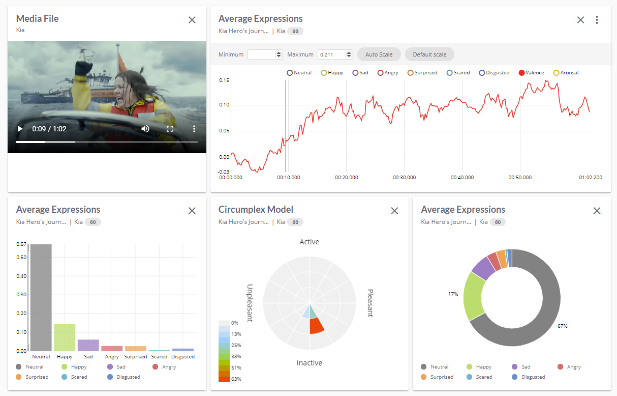 Interactive Dashboard - FaceReader Online